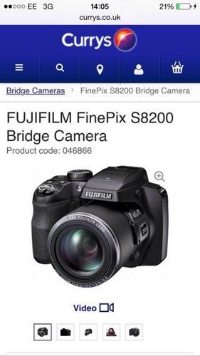 Fujifilm finepixs8200