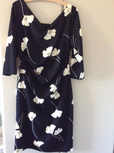 Gina Bacconi Navy/Cream Dress size 16