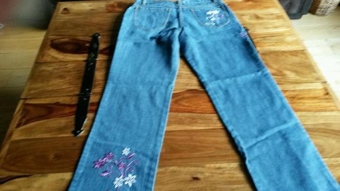 Girls Next Embroidered Denim Jeans 12 years