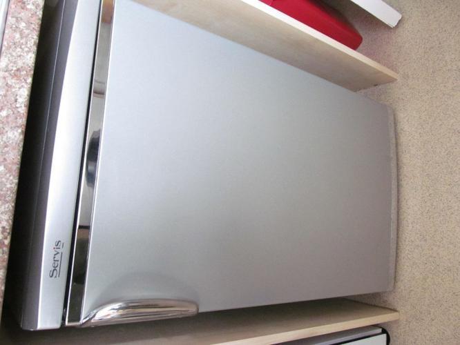 Good clean Servis Fridge silver colour