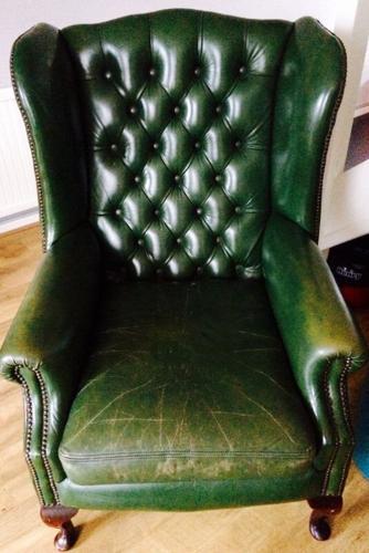 Green Queen Anne Chesterfield