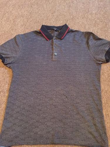 Gucci monogram polo shirt size M 100% genuine.