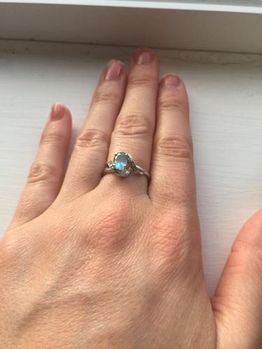 H Samuel Blue Topaz Ring Size M