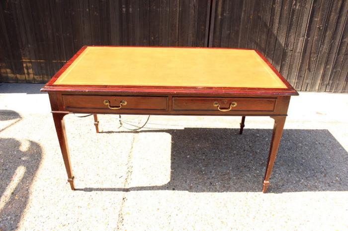 HOBBS & CO Large Antique Writing Table with Power