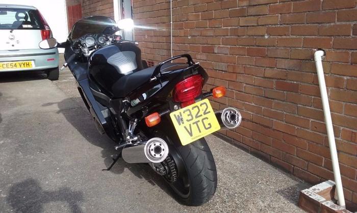 Honda blackbird in pristine condition