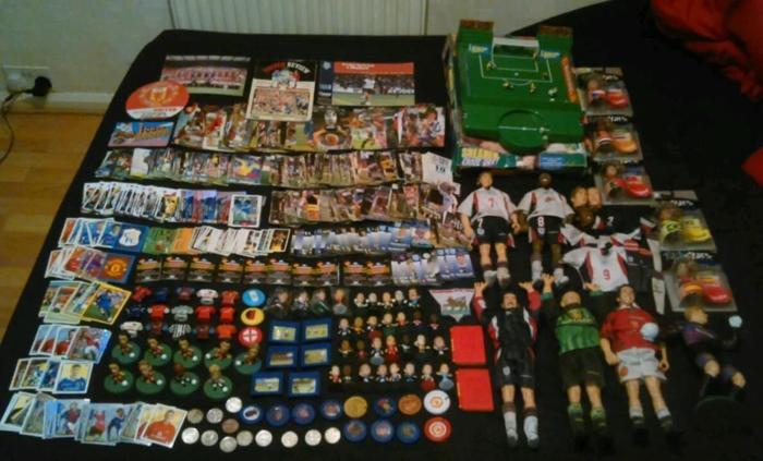 Huge Job lot of Random Football Collectables, Huge