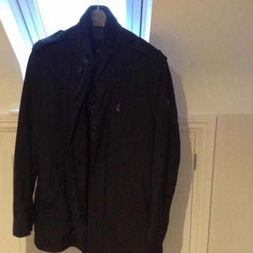 Hugo Boss Coat, Dark Blue, Black & Grey lining. Size