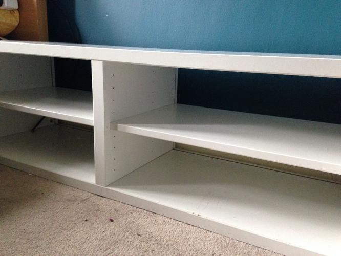 Ikea storage unit, color white