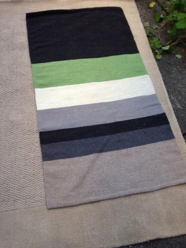IKEA striped woollen rug