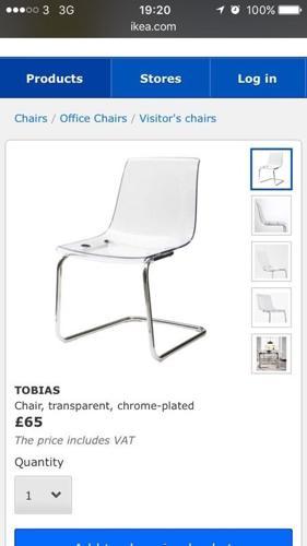 IKEA tobias transparent chairs
