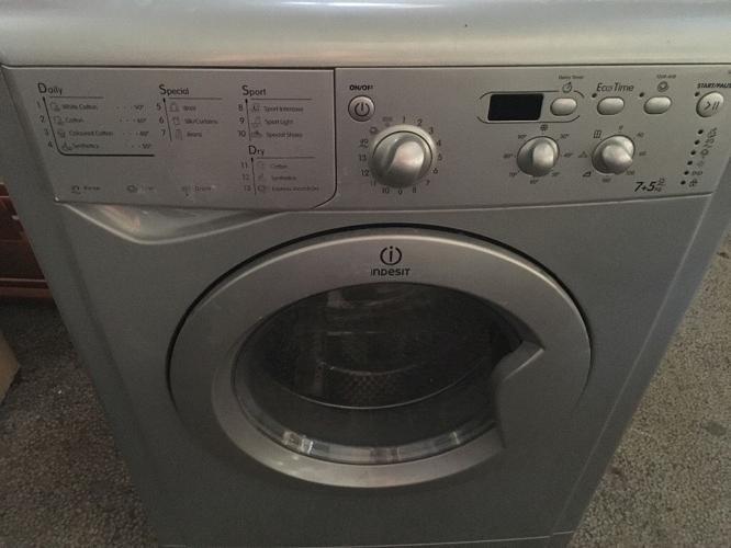 Indesit Washer Dryer, Silver