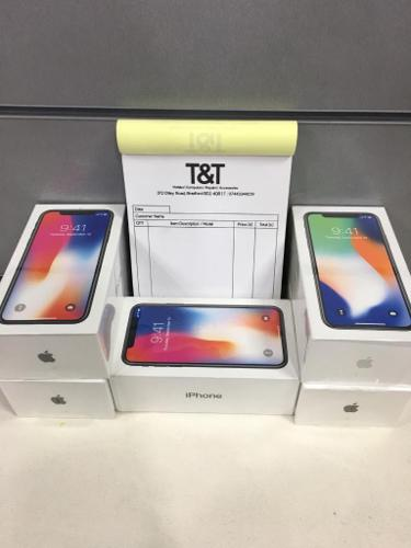 IPhone X 256gb silver sealed pack unlock 12 month apple