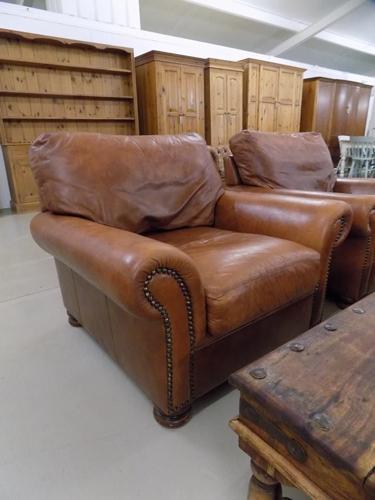 John Lewis Tetrad Cordoba Conker Brown Leather Armchair