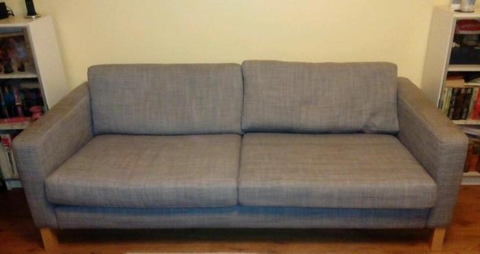 Karlstadt 3 seater sofa - grey