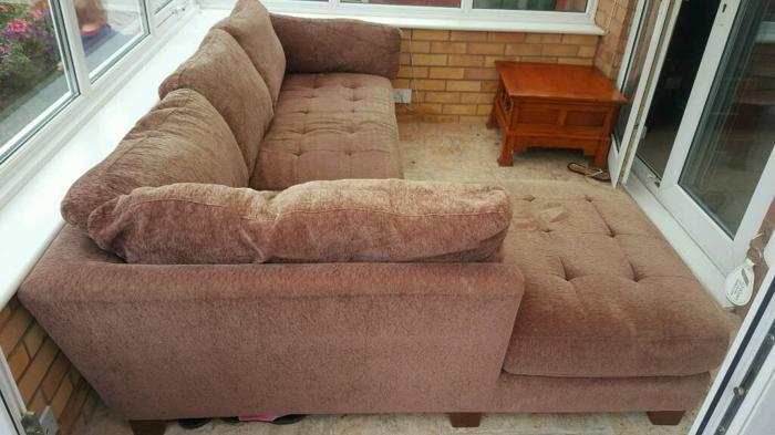 L - Shaped Fabric Sofa