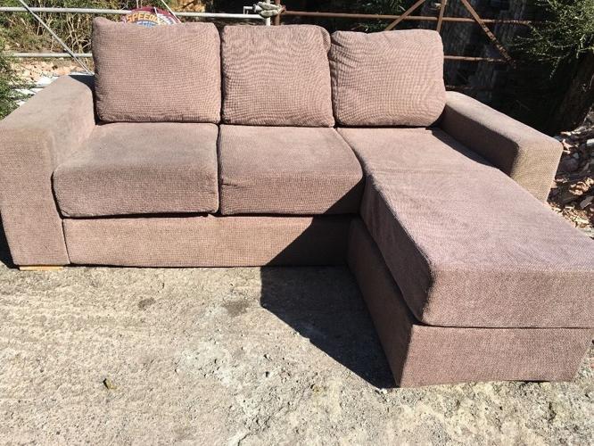 L shaped sofa bed.
