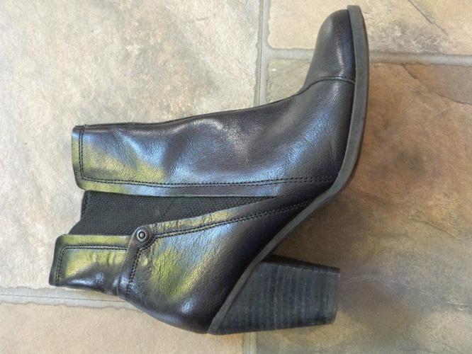Ladies black M&S ankle boots, Indigo Collection, Size