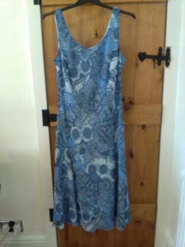 Ladies per una blue patterned dress size 16