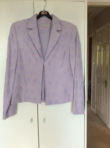 Ladies silk & linen jacket