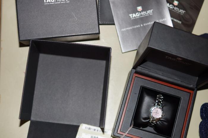 Ladies Tag Heuer Links diamond watch.