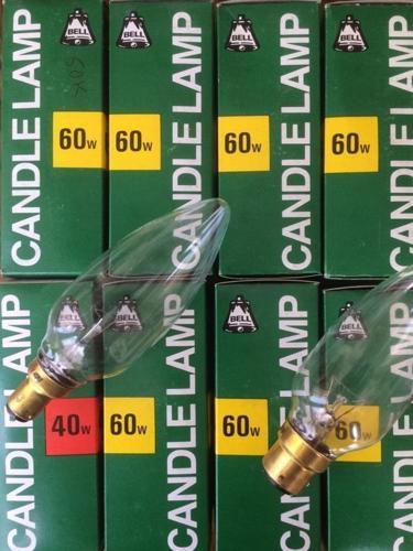 LARGE CANDLE BULBS x 8