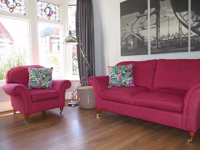 LAURA ASHLEY 'Mortimer' 2 Seater Sofa & Armchair