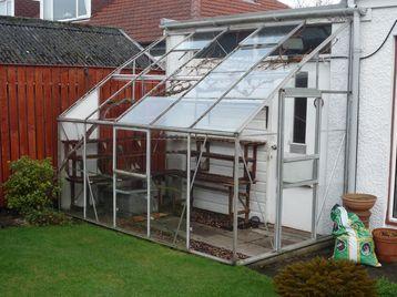 Lean -To Aluminium Greenhouse