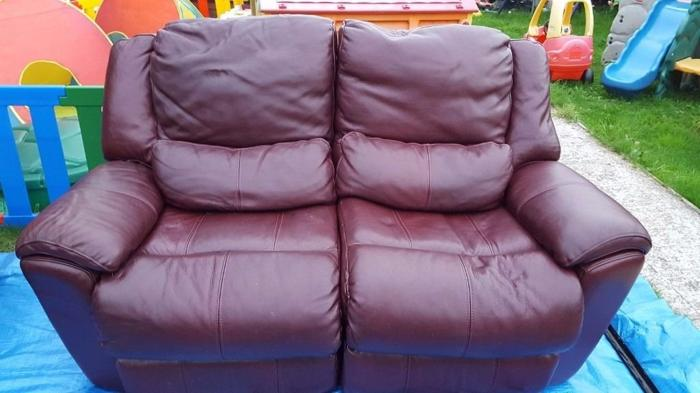 leather recling sofa free to collect