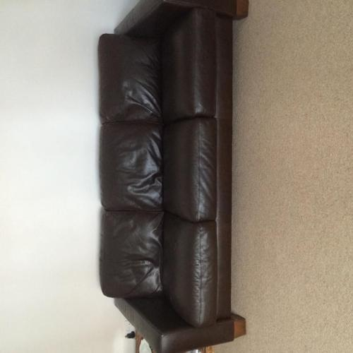 Leather two & three sofa