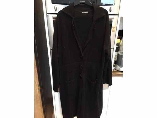 Long Black Cardigan Coat