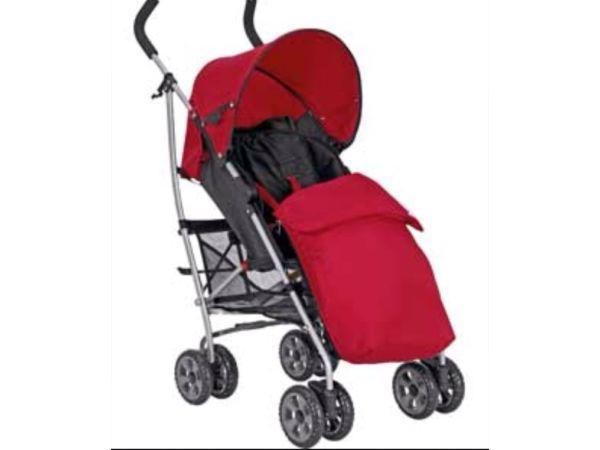 Mamas & Papas Swirl Pushchair in Red & Black