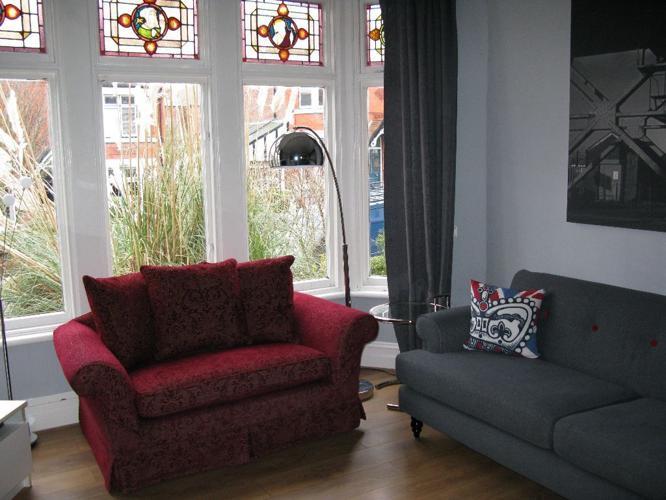 Maroon/Burgundy LAURA ASHLEY 2 Seater Sofa