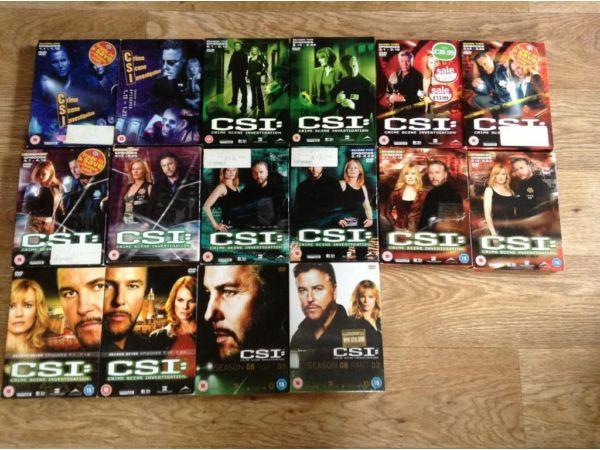 Massive bundle of csi Las Vegas seasons 1-8, csi Miami