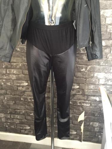 Maternity leather look leggings