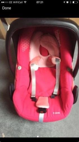 Maxi cosy pebble car seat baby