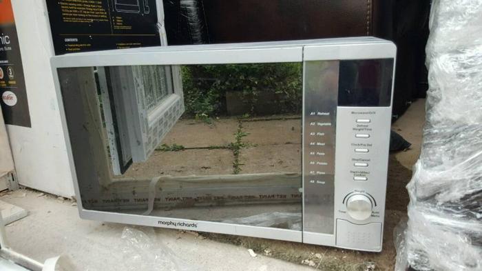 Microwave silver grey