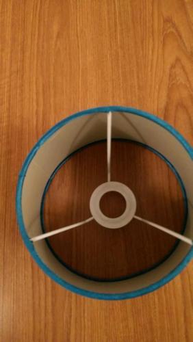 Modern Teal Silk Lamp Shade