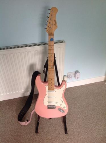 Nevada pink electric guitar