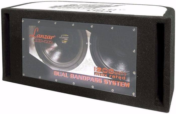New - Lanzar HBP212 1200W Dual 12 inch Bandpass