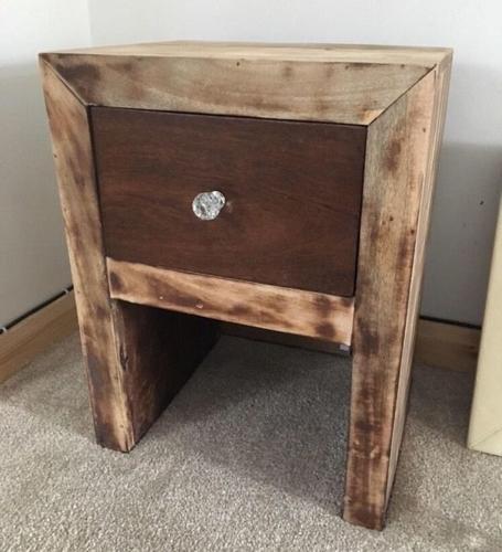 New mango wood bedside table