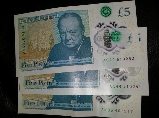 New rare £5 notes. AK35, AC44, AC44.