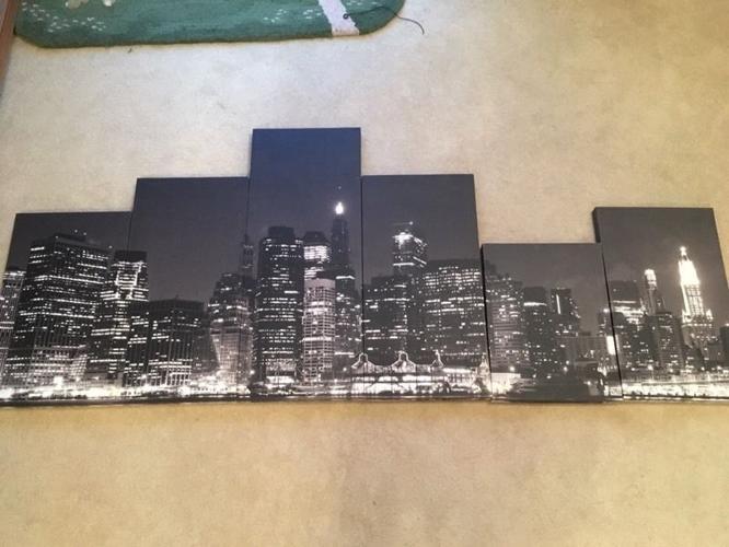 New York skyline canvas - 6 pieces