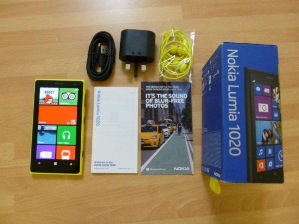 Nokia Lumia 1020 Yellow, 41MP & 32GB, Locked to voda