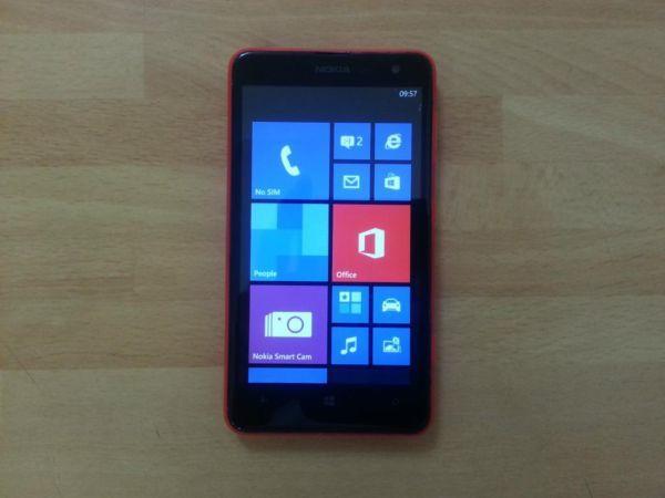 Nokia Lumia 625 4G, 4.7 inch screen, Orange Colour,
