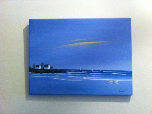 Oil painting, sea landscape