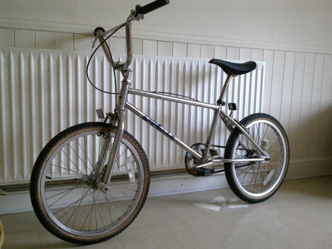 Old School 1980s Emmelle Chrome BMX Bike Rat Look,