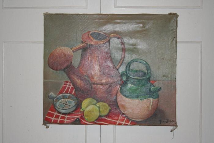 Old still life oil painting