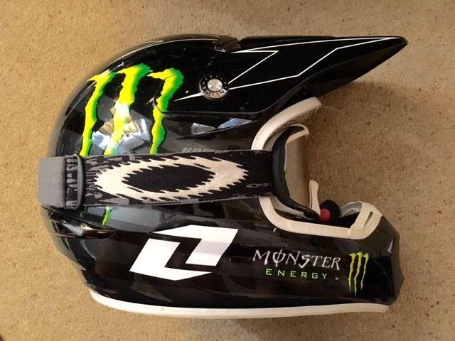 One Industries Motocross Motorbike Helmet Monster