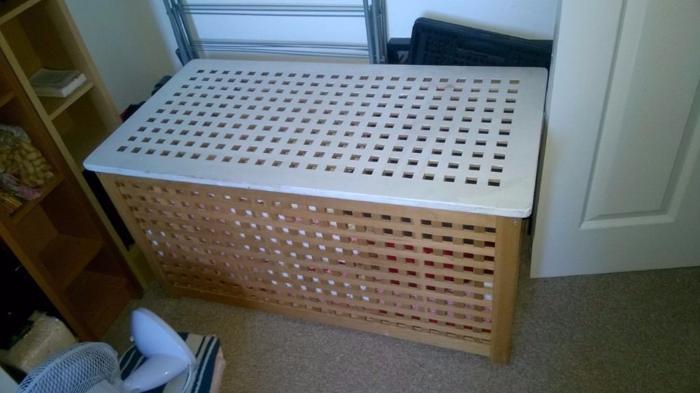 ottoman storage chest pine