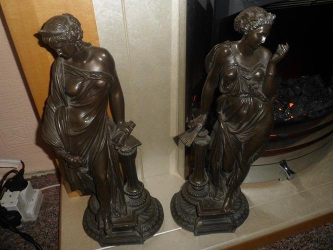 Pair of Grecian Ladies Figurines